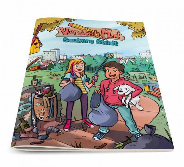 Titelseite vom Lernheft VerstehMal: Saubere Stadt
